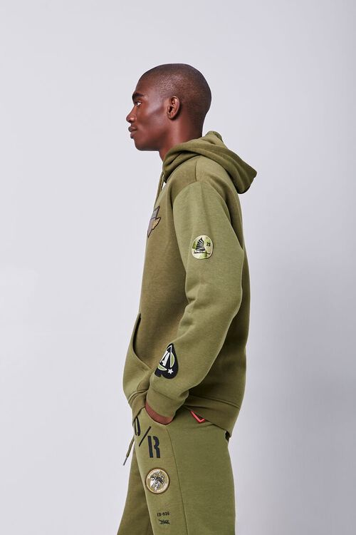 Patch Graphic Fleece Hoodie, image 2