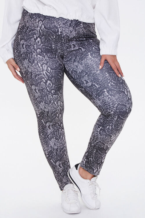 Plus Size Active Snake Leggings, image 2