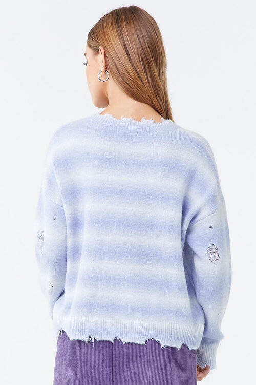 Brushed Distressed Striped Sweater, image 3