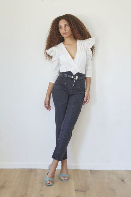 High-Rise Ankle Jeans, image 1