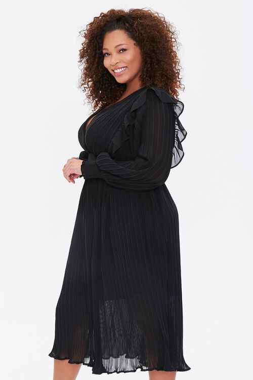 Plus Size Accordion-Pleated Dress, image 2