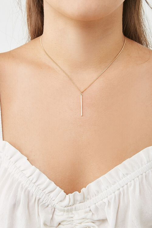 Matchstick Pendant Necklace, image 2