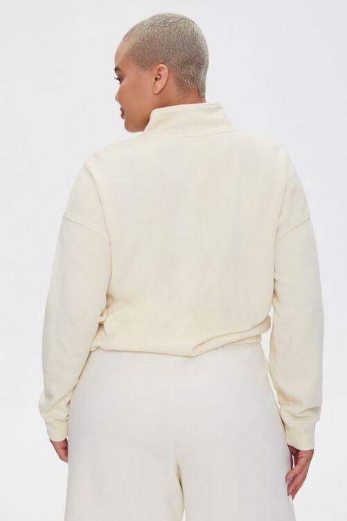 Plus Size Half-Zip Pullover, image 3