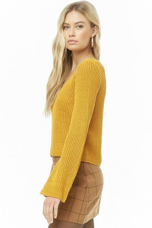 Ribbed Bell-Sleeve Sweater, image 2