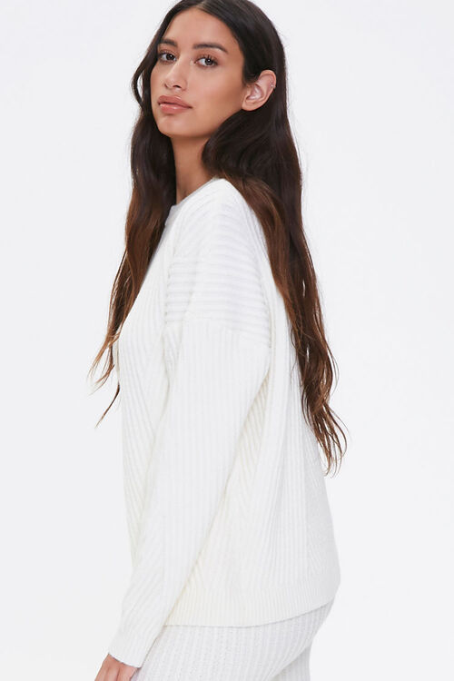 Ribbed Knit Drop-Sleeve Sweater, image 2