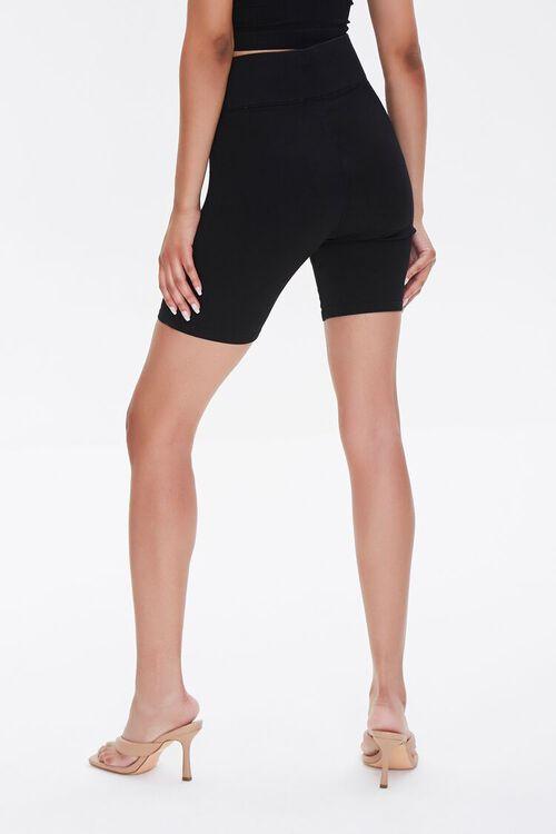 Stretch-Denim Biker Shorts, image 4