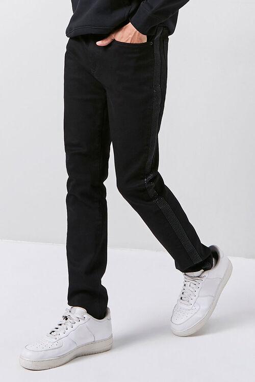 Rhinestone-Trim Skinny Jeans, image 1