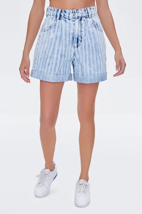 Striped Denim Shorts, image 2