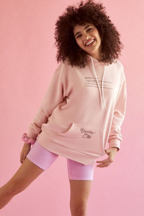 PINK/BROWN Plus Size Equality For All Hoodie, image 1