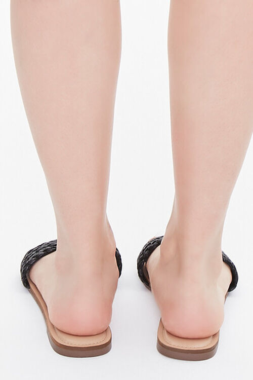 BLACK Braided Flat Sandals, image 3