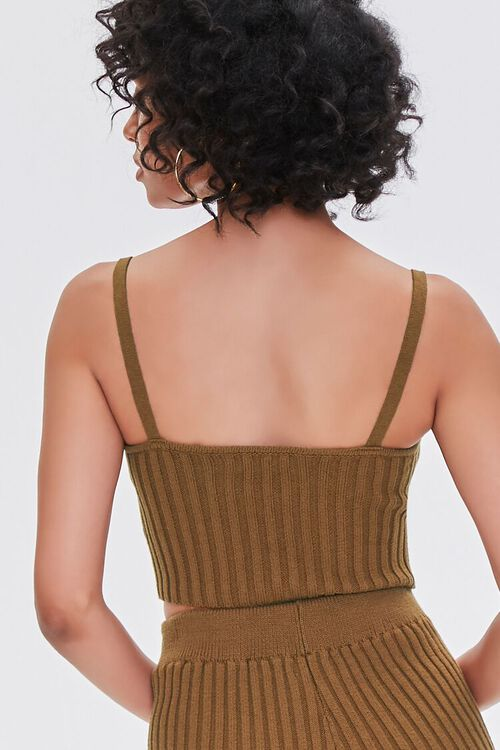 BROWN Ribbed Sweater-Knit Cami, image 3