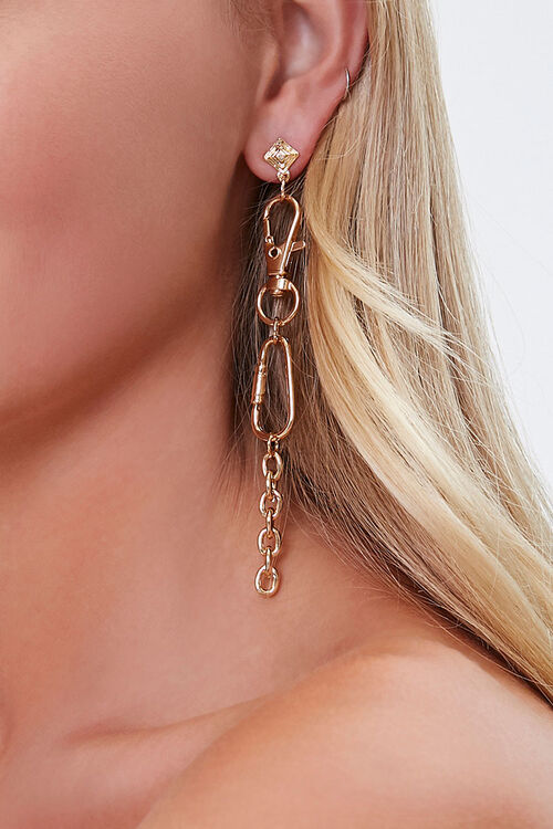 Clasp Carabiner Drop Earrings, image 1