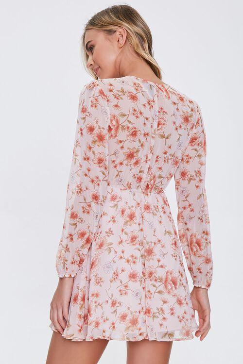 Floral V-Neck Peasant Dress, image 3