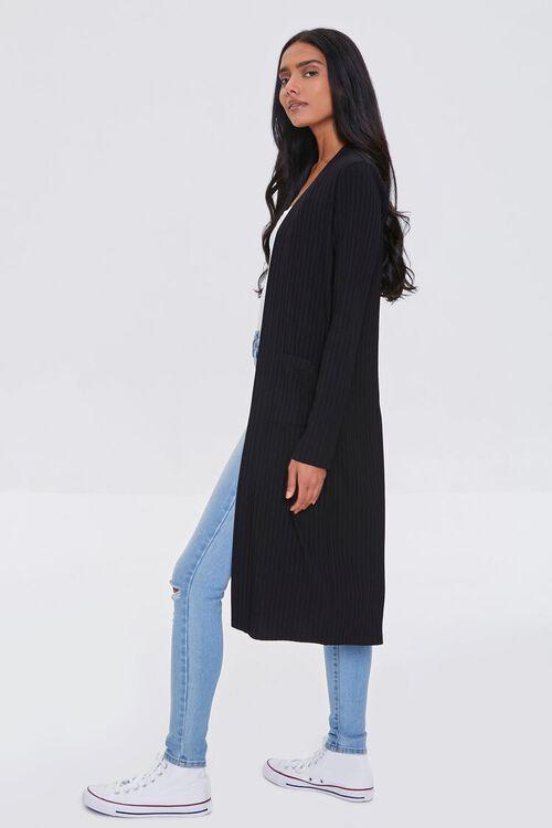 BLACK Longline Cardigan Sweater, image 2