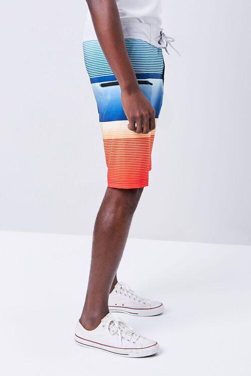Colorblock Striped Swim Trunks, image 3