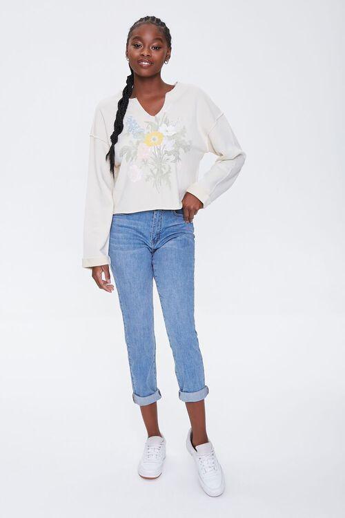 Floral Graphic Split-Neck Pullover, image 4
