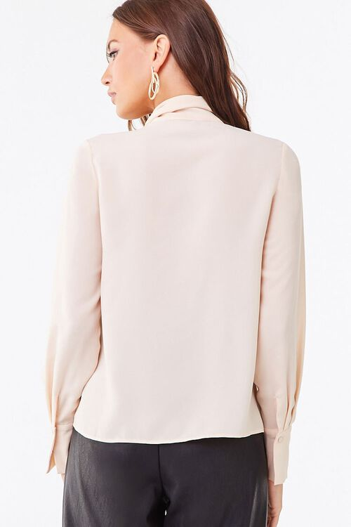 Tie-Neck Curved Hem Top, image 3