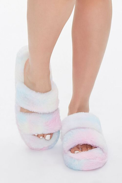 Cloud Wash Faux Fur Slippers, image 4