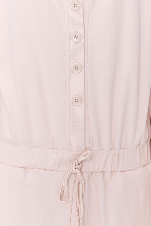 Buttoned Drop-Sleeve Romper, image 4