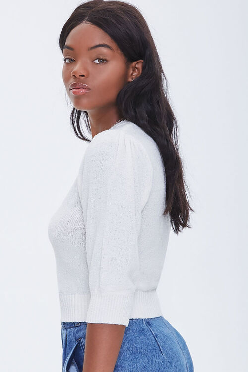 Textured Puff Sleeve Sweater, image 2