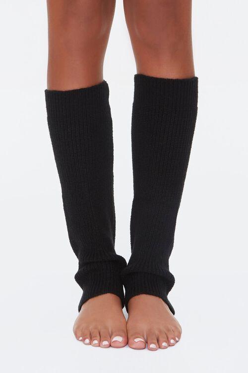 Ribbed Knit Leg Warmers, image 1