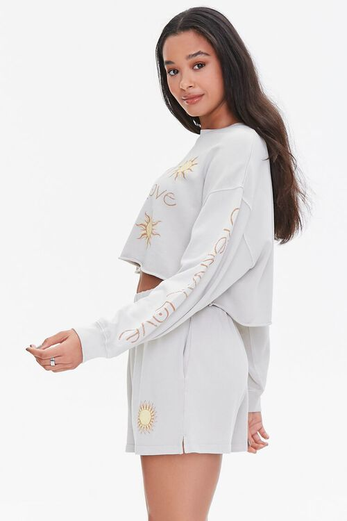 Celestial Graphic Pullover & Shorts Set, image 2