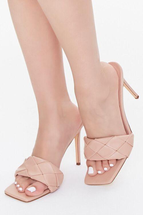 Crosshatch Square-Toe Stiletto Heels, image 1