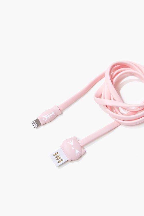 Cat Graphic USB Cable for iPhone, image 1