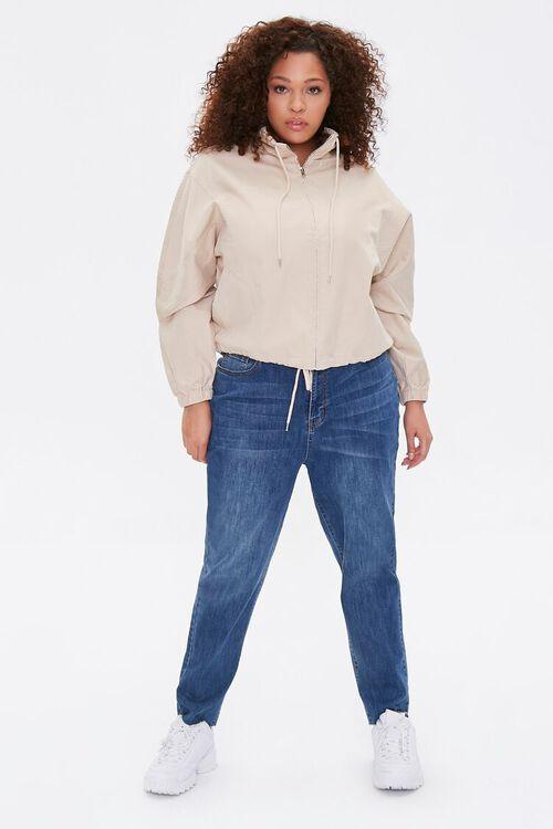 Plus Size Drawstring-Hem Jacket, image 5