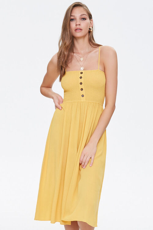 Smocked Cami Midi Dress, image 1