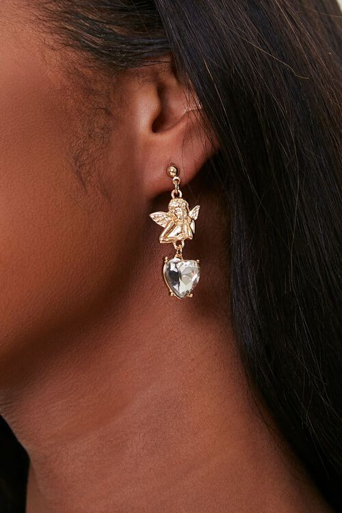 Cherub Drop Earrings, image 1