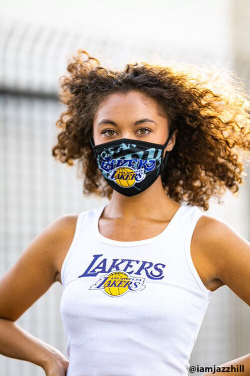 Lakers Graphic Face Mask, image 1