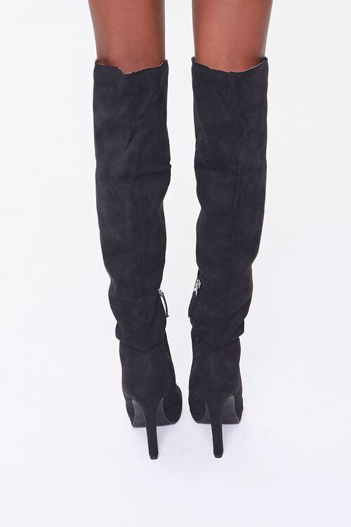 Faux Suede Stiletto Boots, image 3