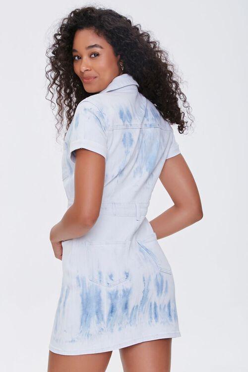 Bleach Dye Denim Mini Dress, image 3