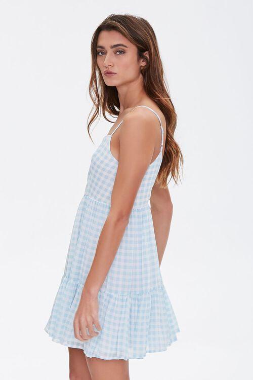 BLUE/CREAM Gingham Mini Dress, image 2