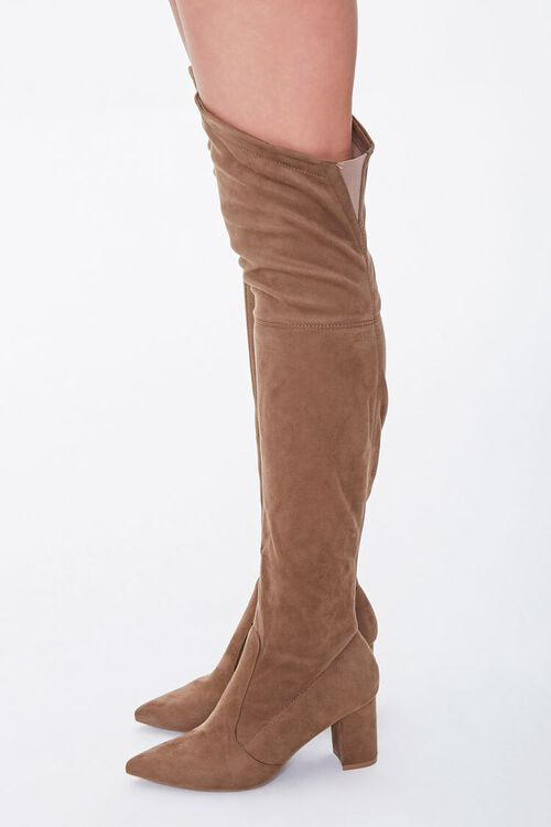 Faux Suede Over-the-Knee Boots, image 2