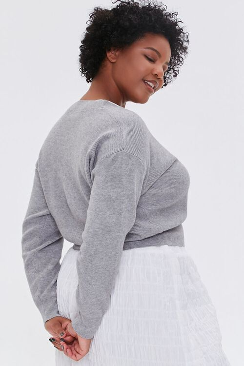 Plus Size Buttoned Cardigan Sweater, image 2