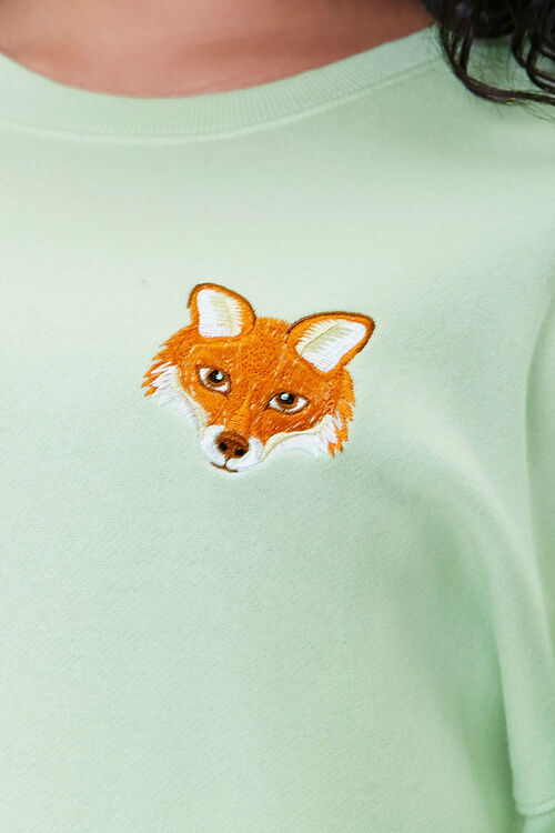 Plus Size Embroidered Fox Sweatshirt, image 5