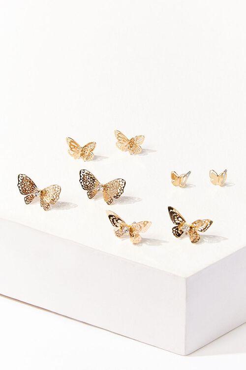 Butterfly Stud Earring Set, image 1