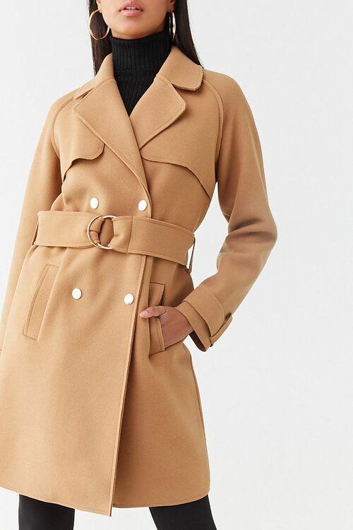 Brushed Double-Breasted Coat, image 1