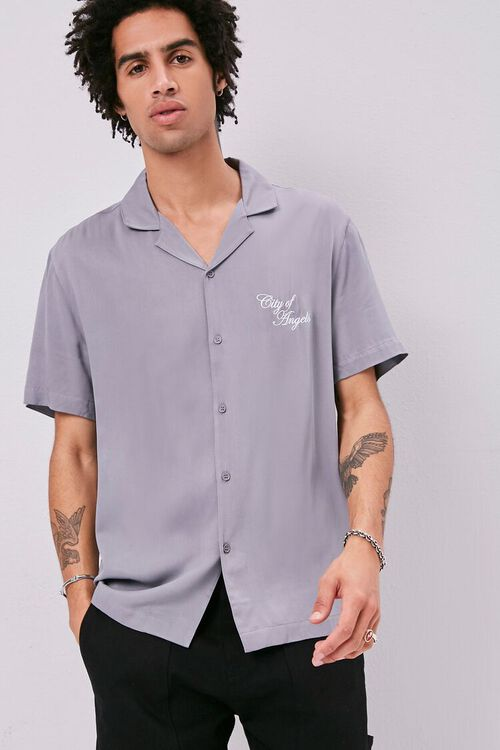 Classic Fit Embroidered Shirt, image 1