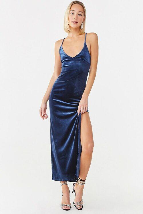 NAVY Velvet Cami Maxi Dress, image 4