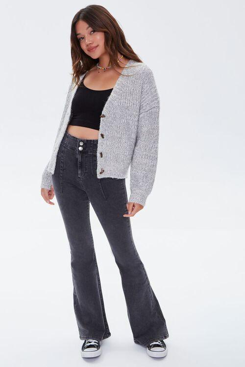 GREY Marled Cardigan Sweater, image 4