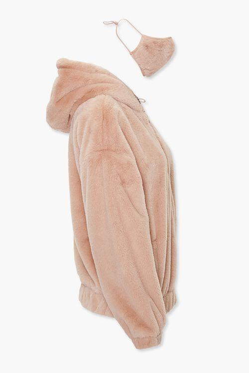 TAN Plush Jacket & Face Mask Set, image 2