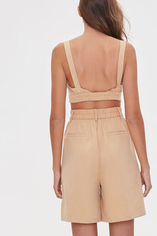 Tie-Front Crop Top & Shorts Set, image 3