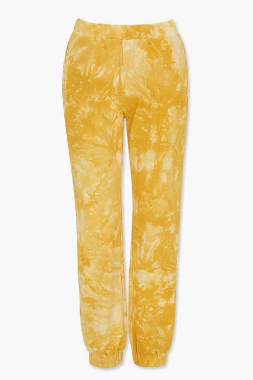YELLOW/CREAM Tie-Dye Wash Joggers, image 3