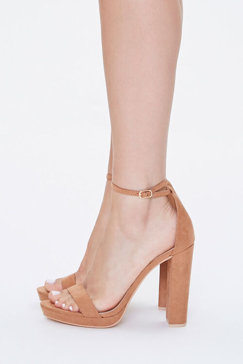 Faux Suede Block Heels, image 2