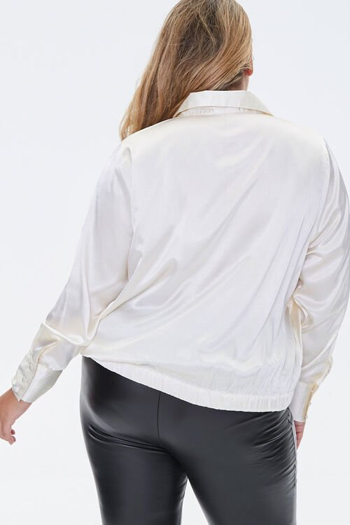 Plus Size Satin Shirt, image 3