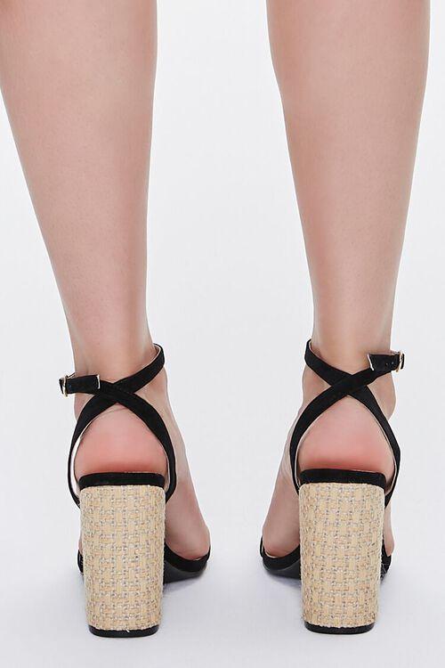 Faux Suede Basketwoven Block Heels, image 3