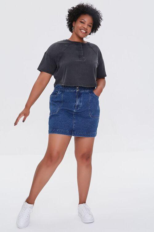 Plus Size Raglan Henley Tee, image 4